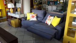 Sofá retrátil/reclinável com atuador elétrico, sofá com mecanismo elétrico e molas ensacadas