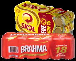Cerveja Brahma ou Skol- Pague 18 leve 15 (sai R$ 1,79 a unidade)