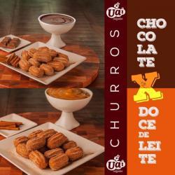 Alimentação - Mini Churros Congelado Chocolate Doce de Leite - Mini Churros Congelado Chocolate Doce de Leite
