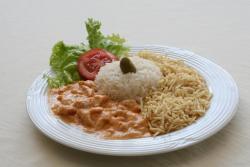 Alimentação - Strogonoff de frango - Strogonoff de frango