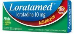 Antialérgico Loratamed 10 mg com 12 comprimidos