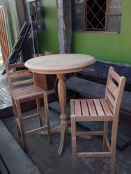 Bistrô em Madeira Cadeiras para Bistrô Jequitibá Rosa