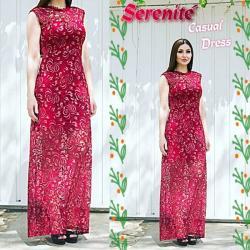 Vestido Madrinha Plus Size Formanda Festa Vestido Longo de Renda Serenité Moda Festa