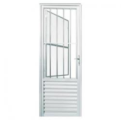 Porta de Alumínio Social 2,10  x 80