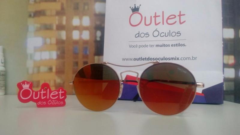 Óculos de Sol Armação Dourada Espelhado One 2 One em Piracicaba ... 5972c4c823