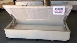 Cama box baú solteiro 088x188 revestido em Corano