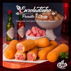 Alimentação - Enrolado de presunto e queijo  - Enrolado de presunto e queijo