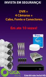 KIT CFTV EM ATÉ 10 PARCELAS