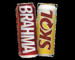 Cerveja Brahma ou Skol latão