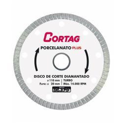 Disco de Corte Porcelanato Piso Diamantado Plus Cortag