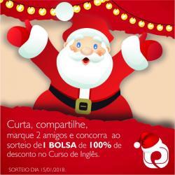 CAMPANHA DE NATAL SORTEIO CURSO DE INGLÊS GRÁTIS