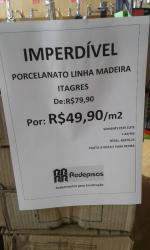 Porcelanato Linha Madeira Itagres